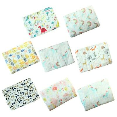 Baby Newborn Cotton Swaddle Muslin Blankets Warm Wrap Bedding Blanket 2 Layer