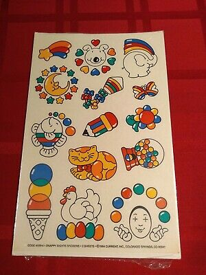 Vintage 80s Stickers - JUMBO SIZE - RARE HTF STICKERS - LOT OF 14 - Dated 1984
