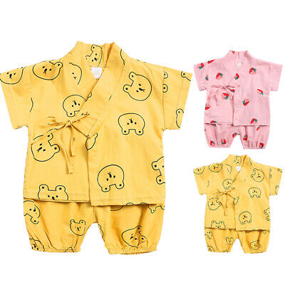 Kids Boys Baby Girls Pajamas Set Short Sleeve Tops+shorts Sleepwear Nightwear