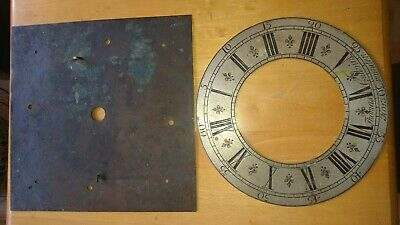 Antique longcase grandfather clock Dial plate & Chapter ring