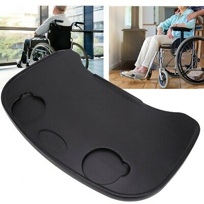 Detachable Wheelchair Lap Tray Dining Table Accessories with Cup Holder Durable