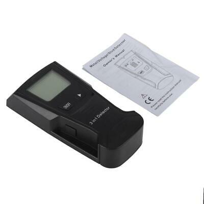 Black LCD Stud Wood Wall Center Scanner Finder Metal AC Live Wire Detector