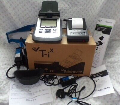 tellermate T-iX 2000, with printer. all boxed with instructions perfect working