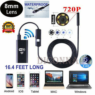 8LED Wireless Endoscope IP68 WiFi Endoscope Detection HD Camera For IPhone