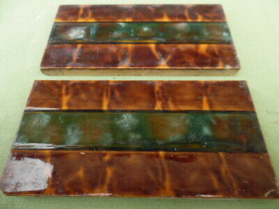 2 Original Victorian / Edwardian fireplace tiles 6inch x 3inch