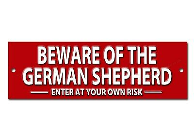 Beware Of The German Shepherd Enter At Your Own Risk Metal Sign,Security Sign