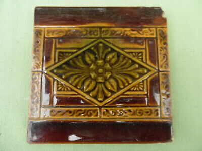 1 Original Victorian / Edwardian fireplace tile 6inch x 6inch