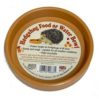 Hatchwells Hedgehog Food and Water Bowl Wild Small Animal Garden Recyclable Weat