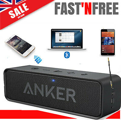 Anker Portable Bluetooth Stereo Speaker Bass Audio Sound 4.0 Built-in Mic USB