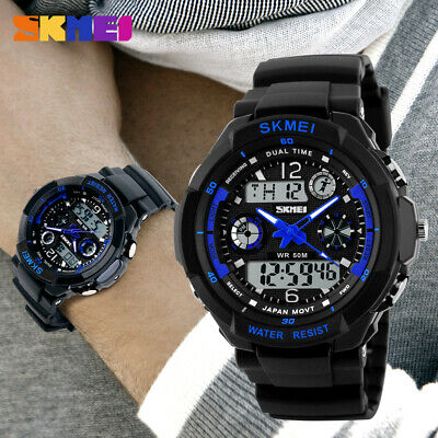 Men's Digital Sports Watch LED Screen Large Face Military Waterproof Watches New