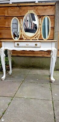 Antique French Dressing table / Painted French   shabby chic style