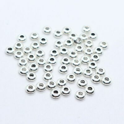 100/300pcs Tibetan Silver/Gold 2*4.5mm Crafts Spacer Beads Charm Making