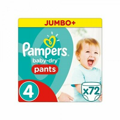 Pampers - Baby Dry Pants - Couches Taille 4 (8-15 kg/Maxi) x72 culottes