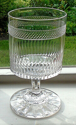 ANTIQUE GLASS RUMMER  ANGLO IRISH c.1850