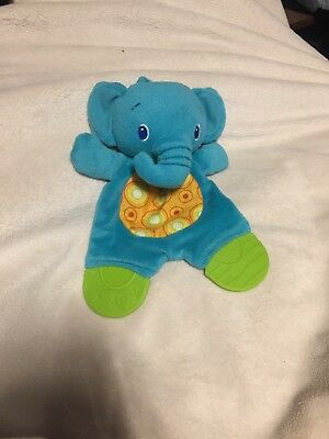 Bright Starts Stars Tactical Snuggle Teether Crinkle Blue Green Elephant Toy