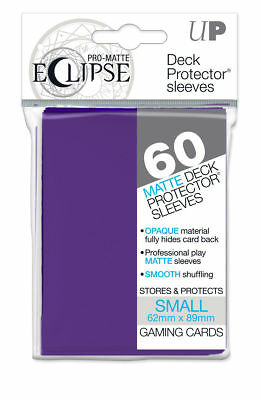 120 Ultra Pro Deck Protector Small Pro-Matte Eclipse R Purple Sleeves Ygo Vgd