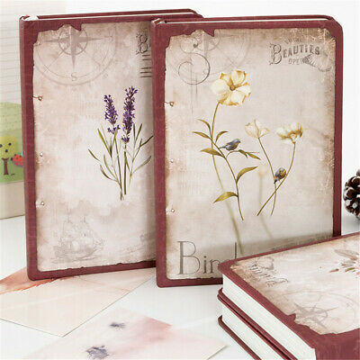 Cardboard Vintage Journal Notebook Lined Paper Diary Planner Notepad 260 Pages
