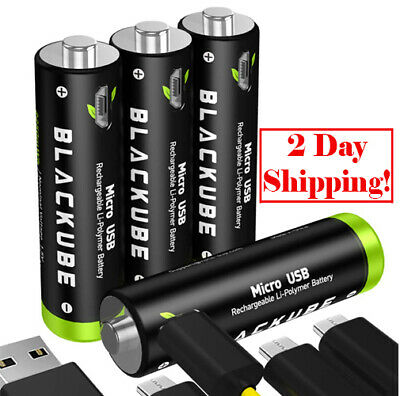 4 USB Rechargeable Lithium Batteries AA Battery-Li-ion Battery USB..1.5V,1250mAh