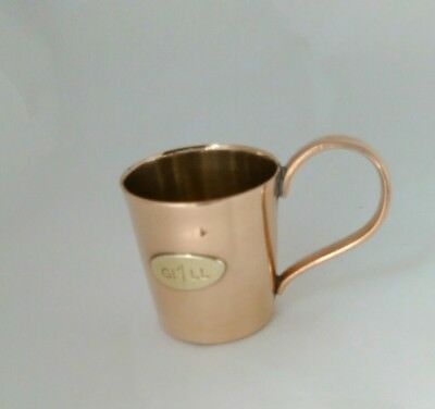 Vintage Copper Tin Lined Gi1ll Measuring Cup