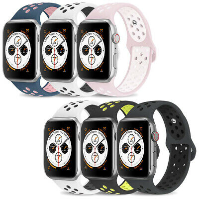 Replacement Sports Silicone Strap Band for Apple Watch Series 4/3/2/1 38mm 42mm