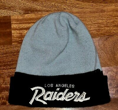 50ffc3843fb96e Vintage Los Angeles Raiders beanie Sport Specialties Script NWA rap hip hop  Hat