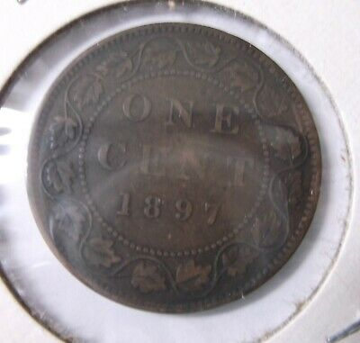 1897 One Cent Canada Fine
