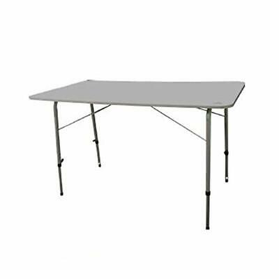 Adjustable Camping Table with Solid Top - 120cm x 60cm -  QQ107707