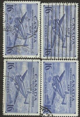 Stamps Canada # CE 1, 16¢, 1942, lot of 4 used stamps.
