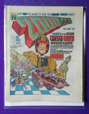 2000AD PROG 75 Dredd Great Condition Key Issue 1st pat of Cursed Earth Game  *