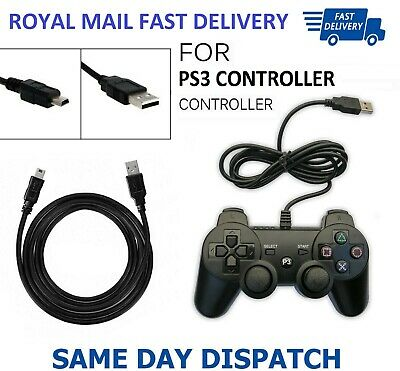 2 Meter USB Charger Cable Data Sync Lead For Sony PS3 PlayStation3 Controller UK