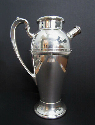"PLYMOUTH 48-oz SILVERPLATE COCKTAIL PITCHER EPNS 3318 VINTAGE 1930'S 11""H"