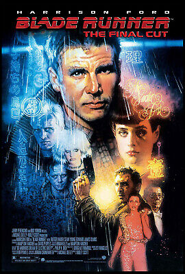 Blade Runner Harrison Ford Ridley Scott R-2007 Final Cut Ds 1-Sheet Rolled