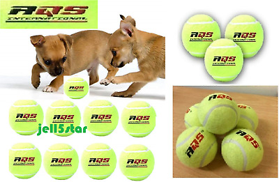 AQS Tennis Balls Bright Green For Pets Puppy Play Dog Toys High Bounce 1 To 50