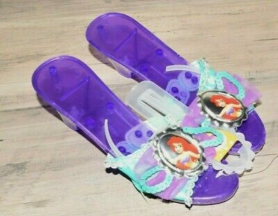 Ariel Little Mermaid Deluxe Kids Jelly Shoes - ( One Size )  Purple Disguise