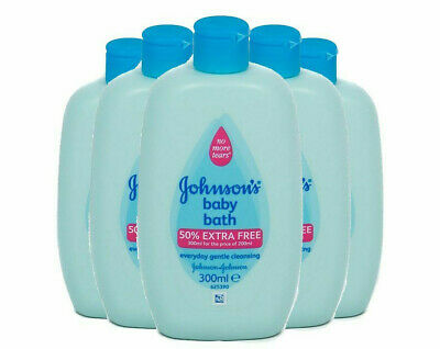 5 Pack of 300ml (1.5L Total) Johnsons & Johnsons Baby Bath Full Gentle Cleanse