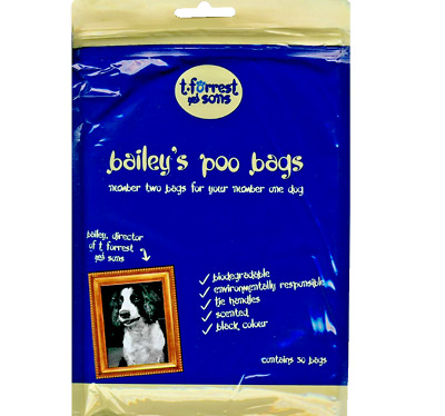 DOGGY POO BAGS - (x50 / x1000) - T.Forrest Baileys Dog Poop Waste Bag PawMits bp