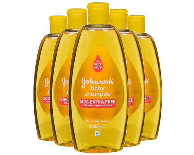 5 Pack Baby Johnsons Hair Shampoo 300ml No More Tears Gentle Soothing 1.5L Total