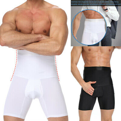 Men Gym Thermo Neoprene Sweat Sauna Body Shaper Pants Weight Loss Slim Underwear