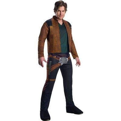 Rubies Han Solo Star Wars Adult Costume Jacket Pants Holster Belt Halloween NEW