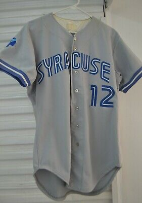 28047a4cc 1990 Syracuse Chiefs Game Worn Jersey Hector De La Cruz Toronto Blue Jays