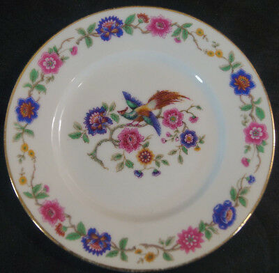 Set of 9 Guerin Limoges France GUE65 Bird of Paradise Bread Plates Circa 1900-32
