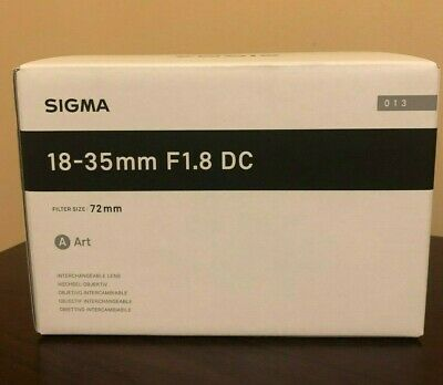 New Sigma 18-35mm f/1.8 DC HSM Art Lens for Canon