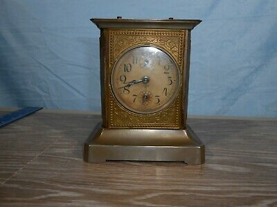 Vintage Antique Mauthe German Victorian Carriage Clock Swiss Clock 33C