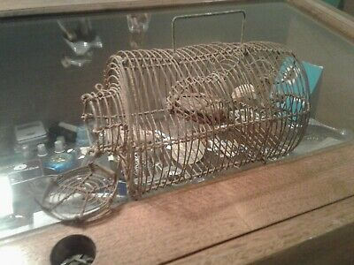 Rare Woven Wire Primitive Antique Flying Squirrel- Mouse - Pest Trap!