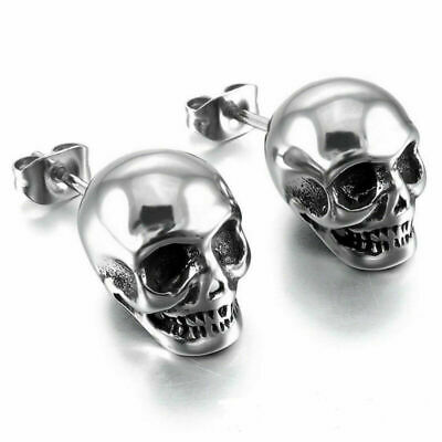 Ear Skull Women Punk Earrings Rock Jewelry Stud & Earrings Silver Women Skeleton