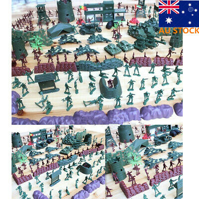 500pcs Military Playset Plastic Toy Soldiers Army Men 4cm Figures & Accessories