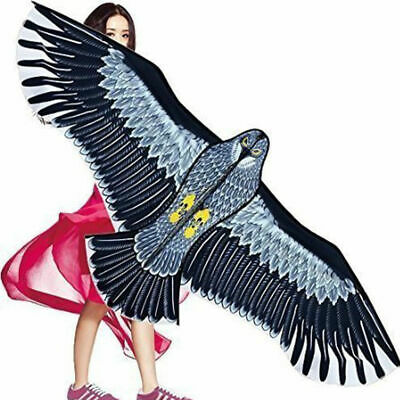 Big Flying Hawk Birds Repellent Scarer Realistic Hawk Kite Garden Repeller