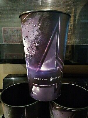 Avengers Endgame Movie Theater Exclusive Six 44 oz Plastic Cups