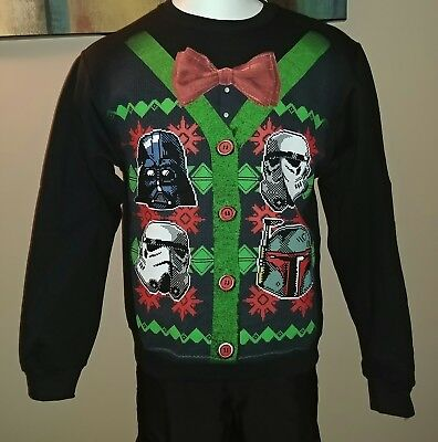 Star Wars Bowtie Stormtrooper Xmas Ugly Sweater Small Sm Sweatshirt Shirt New