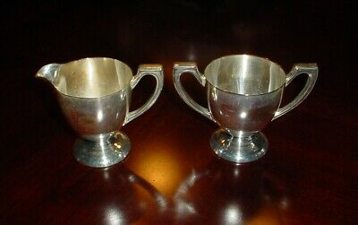 Benedict Silver Plated Sugar Bowl and Cream Jug EPNSBMM U.S.A